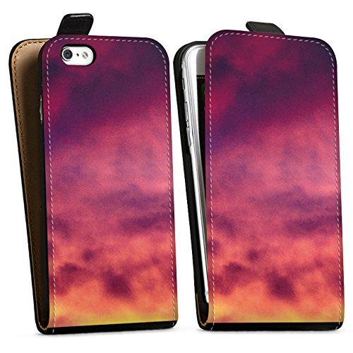 Apple iPhone X Silikon Hülle Case Schutzhülle Lila Wolken Himmel Downflip Tasche schwarz