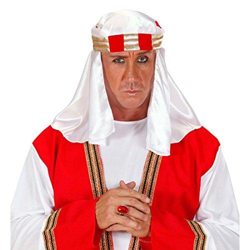 NET TOYS Arabische Kopfbedeckung Scheich Kopftuch Araber Turban Orient Kopfschmuck Scheichtuch Ölscheich Kostüm - Arabische Scheich Kostüm Kopfbedeckung