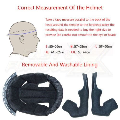 LEAGUE&CO Motorrad Helmets Helm Motorradhelm Helmets Alien Integralhelm Visier Offroad Racing Motocross für Honda Yamaha Suzuki Kawasaki Bandit Helm (M, Schwarz (Getönte)) - 6