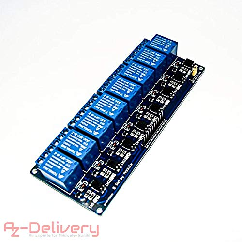 AZDelivery  8-Relais Modul 5V mit Optokoppler Low-Level-Trigger für Arduino