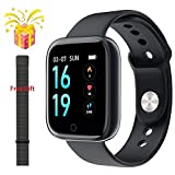 XINGPENGME XINGPENGME Smart-Uhr-Frauen-Mann-Sport-Mode-IP68 wasserdichte Aktivität Fitness Tracker Herzfrequenz Brim Smartwatch VS P68 P70-Armband