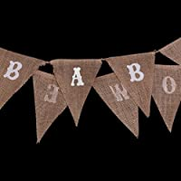 BABY SHOWER Hessian Bunting Banners Party Decoration 11 Flags