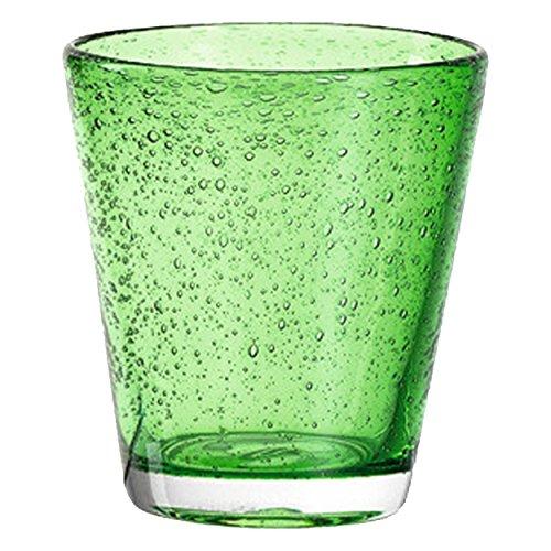 Leonardo 034757 Becher/Glas/Wasserglas/Saftglas - BURANO - Verde/Grün - 1 Stück (Max-verde-grün)