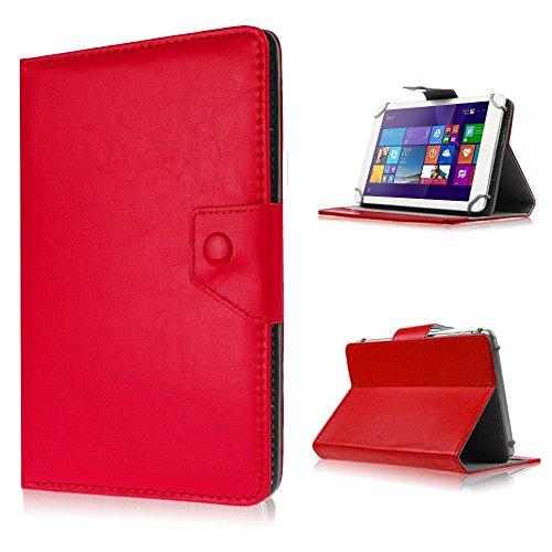 Tasche Schutz Hülle für TrekStor SurfTab xintron i 10.1 Case Cover Etui Ständer, Farben:Rot, Tablet Modell für:Acer Aspire Switch 10