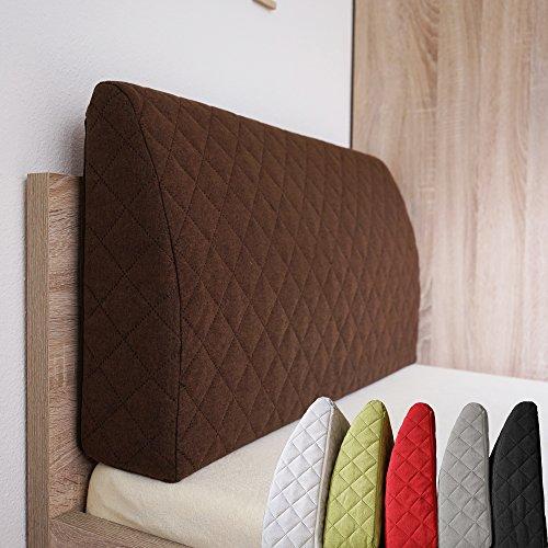 Sabeatex® Rückenlehne für Bett, Sofakissen, Rückenkissen für Lounge-oder Palettenmöbel in 5 trendigen Farben. Länge 90 cm, Höhe 45 cm Farbe: (Braun)