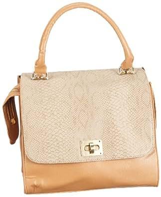 Friis & Company Cappy Bag 1240255, Damen Henkeltaschen, Braun (Cognac 077), 30 x 29 x 19 cm (B x H x T)