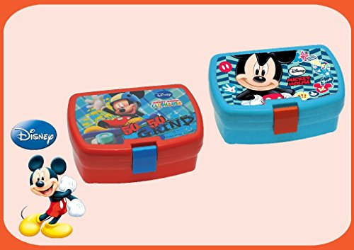 Kinder Snack Box Lunch-Boxen Mickey Mouse sortierten Farben (Mickey Lunch-boxen)