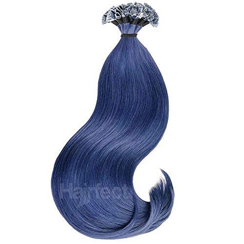 Hairfect Crazy-Color Bonding Extensions Haarverlängerung aus indischem Echthaar - glatt, Naturtöne 40-60 cm, 10 Strähnen Größe 50 cm, Farbe CRAZY 59 (Extensions Haar Farbige)