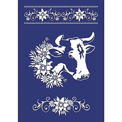 Rayher Hobby RAYHER Schablone Wiesenschönheit, DIN A4, Gummi, Blau, 34 x 21.8 x 0.2 cm, 2 Einheiten (0.2 Einheiten)