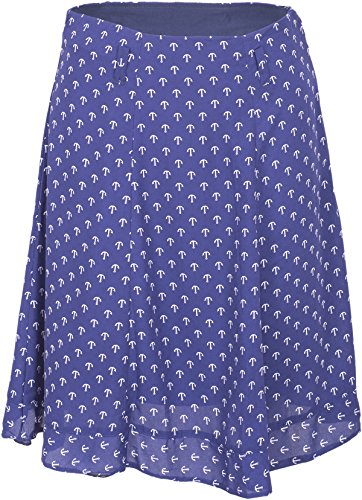 Küstenluder ISLA Sailor ANCHOR Anker Chiffon Ruffle Retro Skirt ROCK Rockabilly