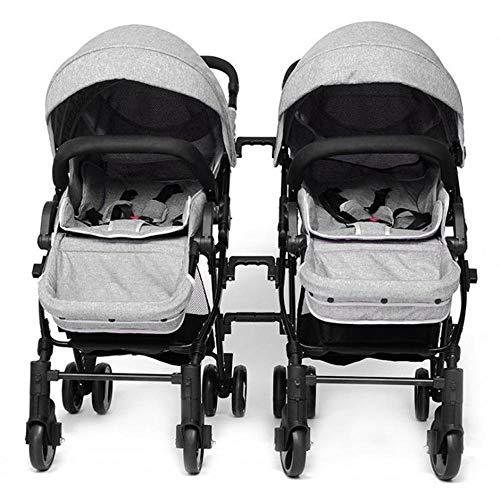 Olydmsky Carro Bebe Gemelo del Cochecito de bebé Puede Estar Sentado y Puede dividirse el Carrito de los niños para
