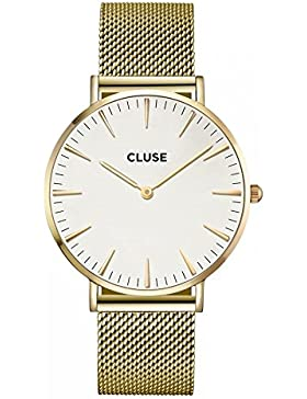 Cluse La Boheme Damen-Armbanduhr 38mm Armband Edelstahl Gold Quarz CL18109