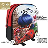 Mochila Infantil Luces Lady Bug