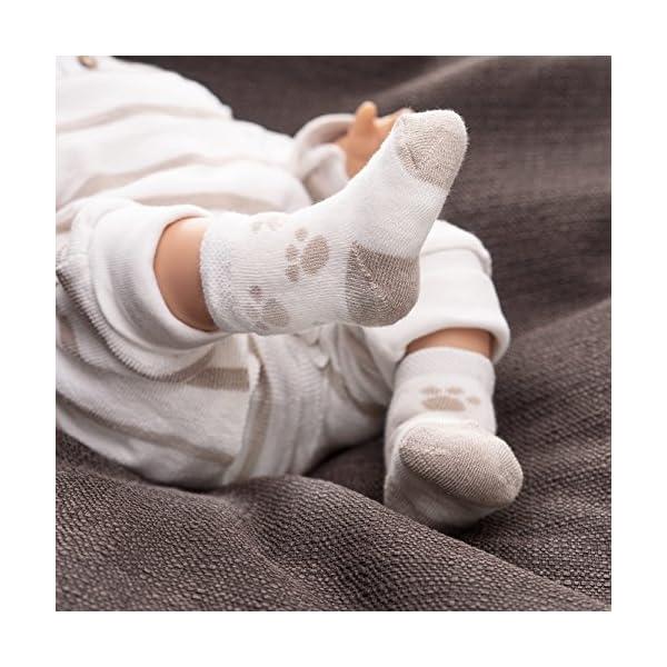 Jacobs Calcetines de recién nacido / Patucos bebé de algodón rizado con motivos ositos - Lote 6 pares (0-3 meses… 2