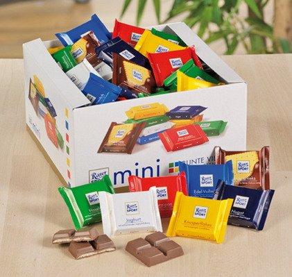 1x RITTER SPORT MINI - sortiert - Süßigkeiten, Nahrungsmittel