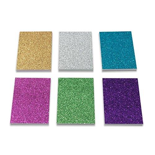 12 x Glitter Schreibwaren Notizblock. Perfekt als kleine Partyüberraschung für Kinder (12 Stück)