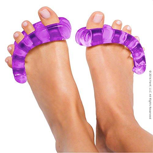 YogaToes - Séparateurs d'orteils - Pour un soin naturel des pieds - Mauve/ Small