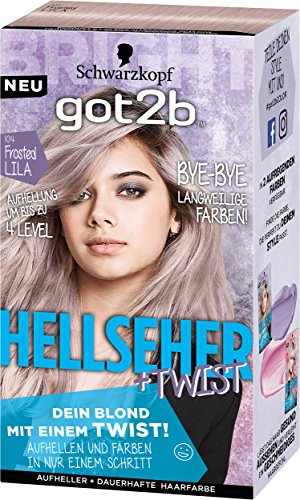 Got2b 104 Frosted Lila Hellseher Haarfarbe, 3er Pack (3 x 143 ml)