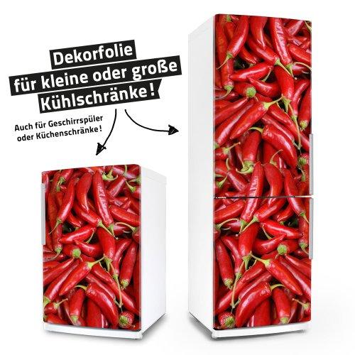 Kühlschrank- & Geschirrspüler-Folie --- Pepperoni --- Dekorfolie Aufkleber Klebefolie Front Paprika (Kühlschrank Vinyl Cover)