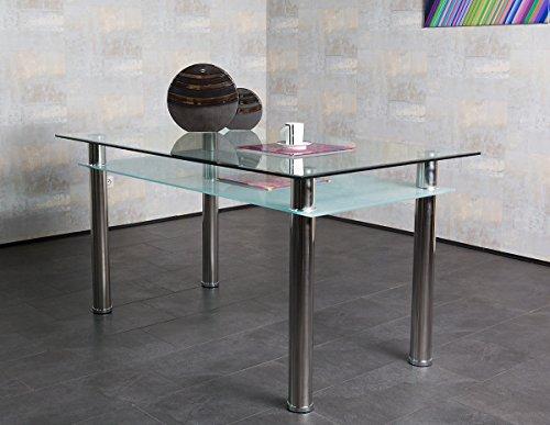 Agionda ® Esstisch Juke 150 x 85 cm 2 x Glas direkt vom Hersteller