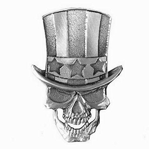 Pin's Abzeichen Metall Schädel Onkel Sam USA für jacke und weste biker -