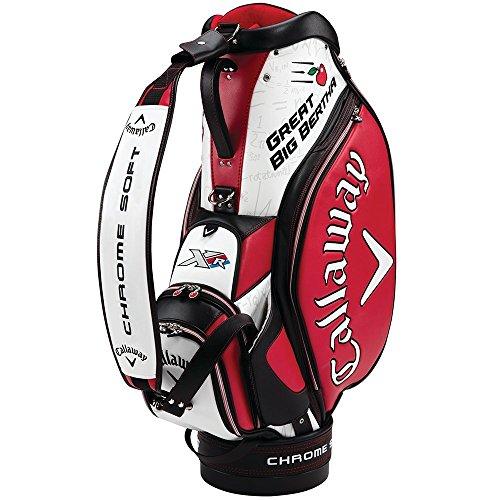Callaway Tour Authentic Staff Tasche für Golf-Trolley, Weiß/Schwarz/Rot -