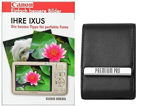 Foto Kamera Tasche PREMIUM PRO Leder Set mit Fotobuch Ihre IXUS Canon für 220 285 275 265 255 160 165 170 175 180 285 170 155 510