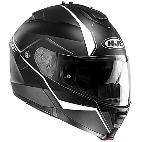 HJC IS-MAX 2/II Flip Front Up DVS Motorcycle Helmet - Mine MC5SF Black/White XL