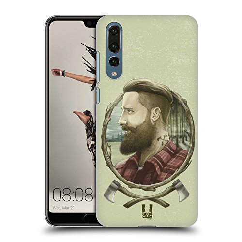 Head Case Designs Holzhacker Männliche Hipsters Ruckseite Hülle für Huawei P20 Pro