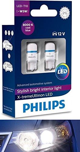 Philips 360° x de tremeultinon–8000K 12799i80x 2LED T10W2.1X 9.5D ceralight-Puissance 12V, Lot de 2