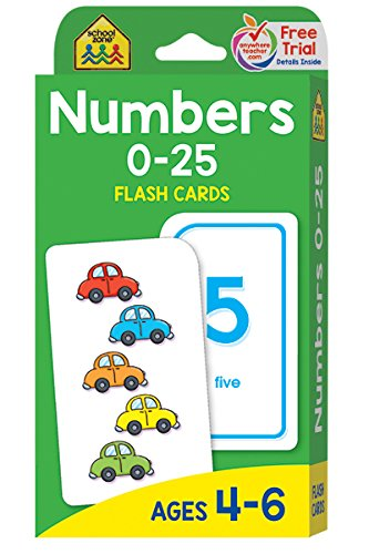 Numbers 0-25: Ages 4-6