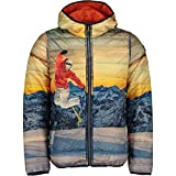 CMP Boy Jacket Reverse Fix Hood Jungen Winterjacke Wendejacke orange-Blue-Sun