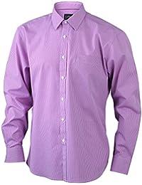 JAMES & NICHOLSON - chemise manches longues petit carreaux - repassage facile - JN613 - Homme