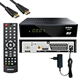 Edision Proton LED Full HD Satelliten-Receiver FTA HDTV DVB-S2 (HDMI, Scart, Display, USB 2.0) Astra 19,2 vorpr. inkl. HDMI Kabel