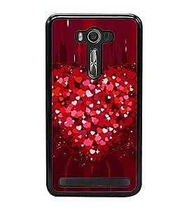 Heart of Red Hearts 2D Hard Polycarbonate Designer Back Case Cover for Asus Zenfone 2 Laser ZE500KL (5 INCHES)