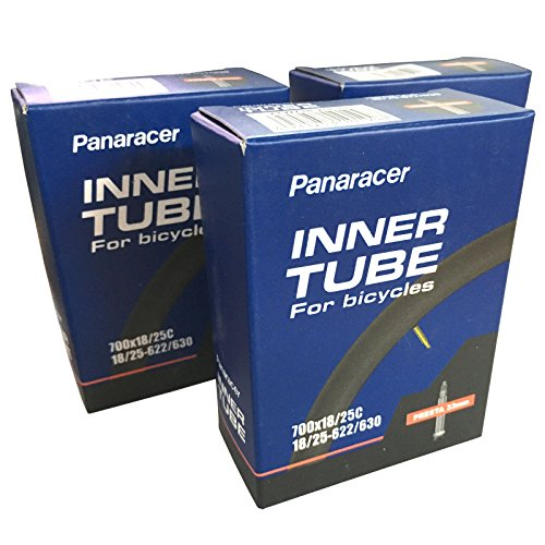 Panaracer 700 x 18-23c Road Bike Inner Tubes - Presta 33mm Valve (Pack of 3) -