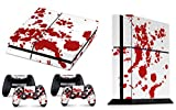 Skins4u® Playstation 4 PS4 Skin Design Folie Aufkleber Vinyl Sticker Set + 2 PS4 Controller Skins - Blood