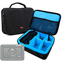 DURAGADGET Borsa Professionale Nera Con Interno Blu Light Per action camera GULAKI G300702   Volador   Kaiser Baas X100   MGCOOL Explorer 3   HAMSWAN F68   SENDOW 4K HD   Xiaomi MADV 360° / MiJia 360°   Apeman V-2   TOPELEK 4K   VTIN Eypro VOD001B   Sony DSC-RX0 – Imbottita – Con Scompartimenti Regolabili