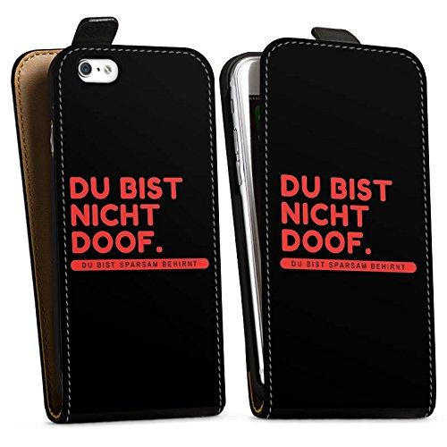Apple iPhone X Silikon Hülle Case Schutzhülle Doof Sprüche Lustig Downflip Tasche schwarz