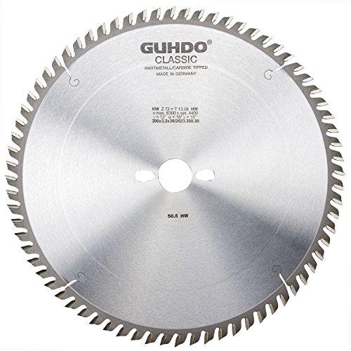 Guhdo classique HW Lame de scie circulaire 250 x 3,2 Alésage 30 mm 80 Dents | Bois Fin/fabriqué en Allemagne