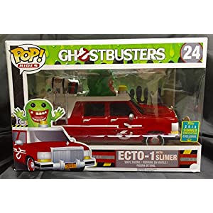 Funko Pop Funko 9925 – Cazafantasmas 2016, Pop Vinyl Figure 24 Ecto-1 with Slimer (Cazafantasmas ) Funko Pop Cazafantasmas