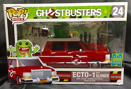 Funko 9925 - 2016 Ghostbusters, Pop Vinyl 24 Ecto-1 with Slimer (Moquete)