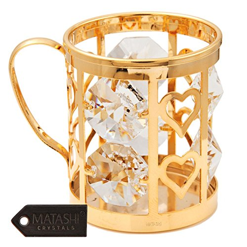 Studded de cristal bañados en oro de 24K), diseño de jarra de cerveza por matashi