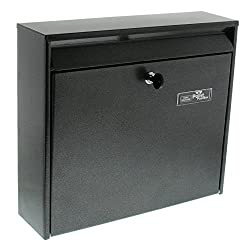 BURG-WÄCHTER Anlagenbriefkasten, A4 Einwurf-Format, EU Norm EN 13724, Verzinkter Stahl, Mail 5877 E, Eisen