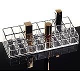 PuTwo Oraganizador Maquillaje Acrílica 24 Compartimentos Grande Capacidad Estuche Caja Maquillaje