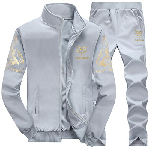 Homme Loisir Survêtement Manches Longues Jogging Sports Sweat-Shirt + Pantalons 2 Pièces