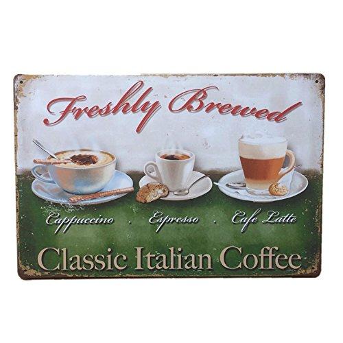 PETSOLA Kaffee Vintage Blechschild Bar Pub Cafe Wand Dekor Retro Metal Art Poster - Stil 9 -