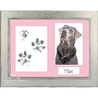 BabyRice – Kit de Pawprints Plata Negro de Huellas de Mascota Perro Gato de Paño de