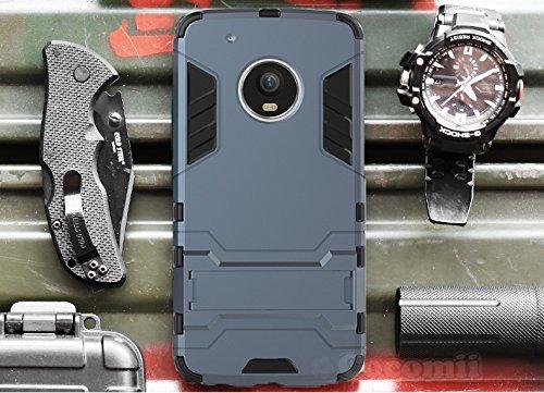 Preisvergleich Produktbild Motorola Moto G5 Plus Hülle, Cocomii Iron Man Armor NEW [Heavy Duty] Premium Tactical Grip Kickstand Shockproof Hard Bumper Shell [Military Defender] Full Body Dual Layer Rugged Cover Case Schutzhülle XT1684 XT1685 XT1687 (I.Black)