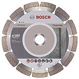 BOSCH Diamanttrennscheibe Standard für Concrete, 180 x 22,23 x 2 x 10 mm, 1-er Pack, 2608602199